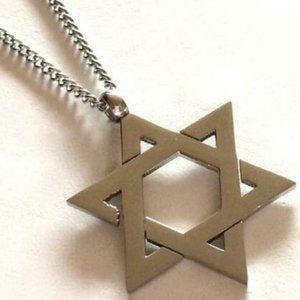 Jewelry - Stainless Steel Star of David Necklace Jewish